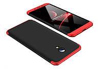 Пластиковая накладка GKK LikGus 360 градусов для Meizu M6s Черный /Красный, фото 1