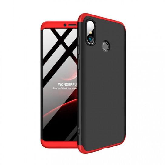 Пластиковая накладка GKK LikGus 360 градусов для Xiaomi Mi Max 3 Черный /Красный