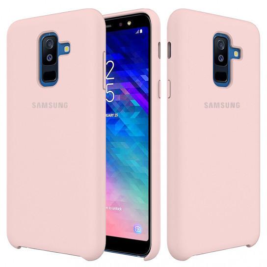 Оригинальный силиконовый чехол Samsung для Samsung Galaxy A6 Plus (2018) Розовый