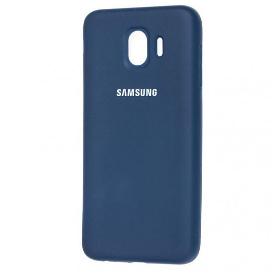 Оригинальный силиконовый чехол Samsung для Samsung J400F Galaxy J4 (2018) Синий