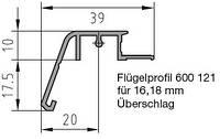 Защита створки BUG-Alutechnik (Flügelprofil 600 121)