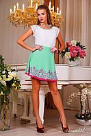 Гипюровая блуза. Элегантная футболка c нежной комбинацией из тонкого, ажурного кружева и трикотажа