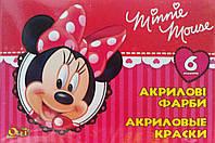 Акриловые краски Minnie Mouse, ТМ Olli , 6 цветов, 10мл., фото 1