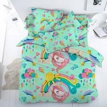 Постільна білизна для малюків в ліжечко поплін Єдинороги Арт