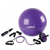 Набор для тренировок LiveUp YOGA SET, (LS3511), пурпурный