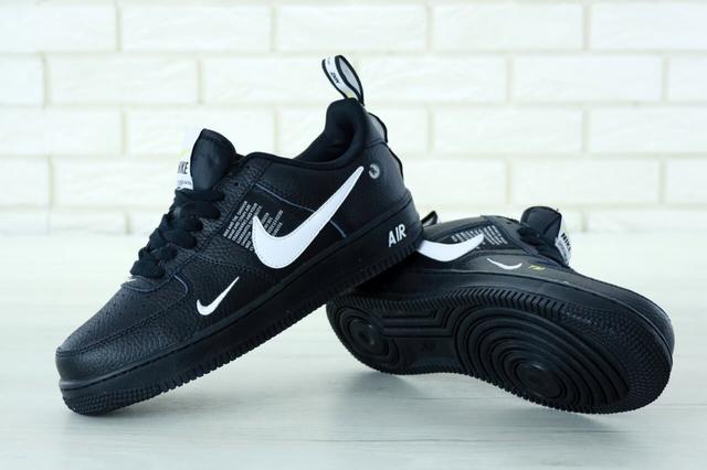 Женские кроссовки Nike Air Force 1 Low TM 07 Black  фото