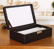 Шкатулка для хранения ювелирных украшений 17,8*11*6 Гранд Презент 603430 коричневая