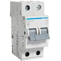 Автоматический выключатель 2Р 40А С MC240A Hager