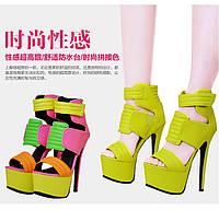 Эксклюзив !!! Pinkpalms 2015 европейские подиум яркие босоножки 5 цветов МЕГА ЦЕНА!!!