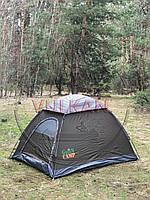 Фирменная двухместная однослойная палатка Green Camp 3005