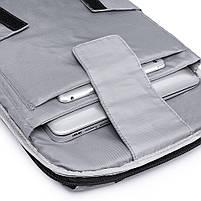 Мужской рюкзак KAKA, USB, водостойкий, с защитой от кражи, сумка для ноутбука, 15,6  Черный, фото 6
