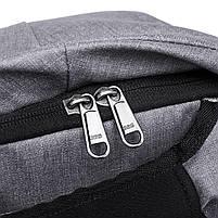 Мужской рюкзак KAKA, USB, водостойкий, с защитой от кражи, сумка для ноутбука, 15,6  Черный, фото 7