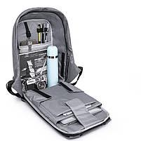 Мужской рюкзак KAKA, USB, водостойкий, с защитой от кражи, сумка для ноутбука, 15,6  Черный, фото 8