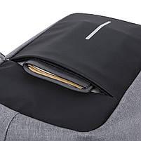 Мужской рюкзак KAKA, USB, водостойкий, с защитой от кражи, сумка для ноутбука, 15,6  Черный, фото 5