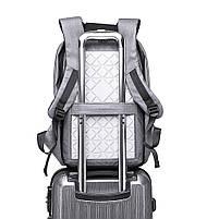 Мужской рюкзак KAKA, USB, водостойкий, с защитой от кражи, сумка для ноутбука, 15,6  Черный, фото 9