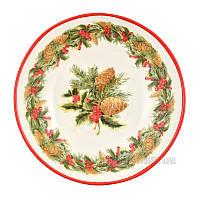 Набор тарелок для супа Villa Grazia Premium Яркое Рождество 22 см, 6 шт PASOP22IS-set