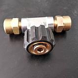 Тройник высокого давления для подключения двух пистолетов к АВД, фото 3