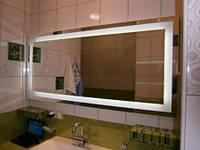 Зеркало с подсветкой на светодиодах для ванной