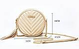 Сумка жіноча кругла з пензликом (сіра), фото 3