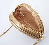 Сумка жіноча кругла з пензликом (сіра), фото 7