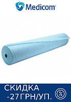Одноразовая простынь в рулоне голубая MEDICOM Standart 25г/м.кв 80 х 100
