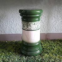 Керамическая колонна для цветов