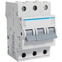 Автоматический выключатель 3Р 6А В MB306A Hager