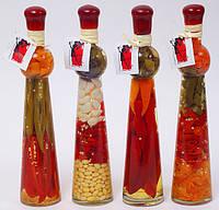 Декоративная бутылка с овощами, 30.9см, 4 вида