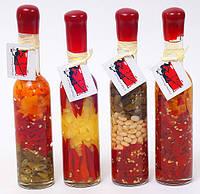 T Декоративная бутылка с овощами, 24.8см, 4 вида