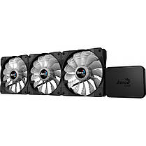 Система охлаждения, кулер Aerocool P7-F12 Pro RGB Black 3х120мм + P7-H1 для корпуса., фото 2