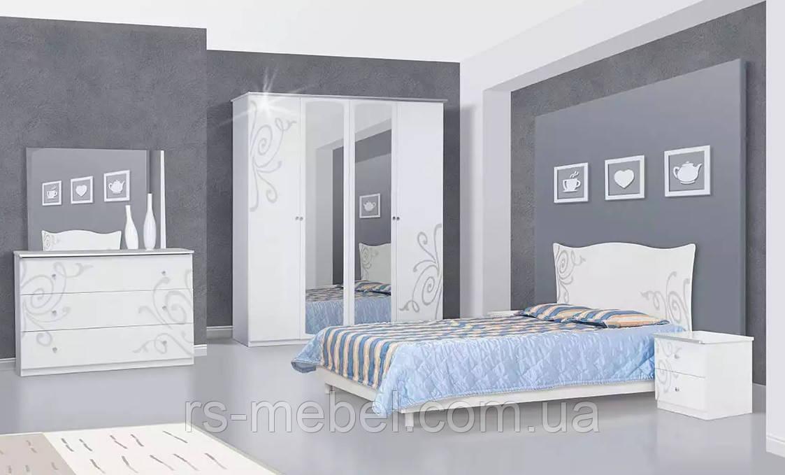 "Модульная спальня ""Фелиция Нова"" белый глянец (Світ Меблів)"