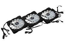 Система охлаждения, кулер Aerocool P7-F12 Pro RGB Black 3х120мм + P7-H1 для корпуса., фото 3