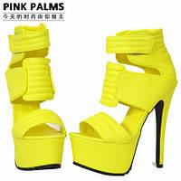Эксклюзив !!! Pinkpalms 2015 европейские подиум яркие босоножки 5 цветов МЕГА ЦЕНА!!!, фото 1