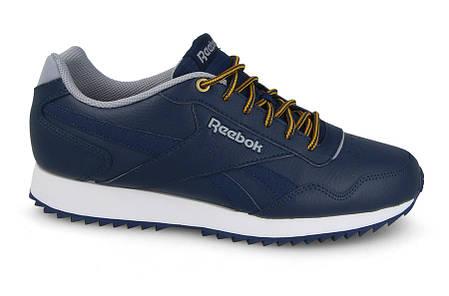 Мужские кожаные кроссовки REEBOK ROYAL GLIDE (CN3221) синие, фото 2