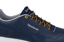 Мужские кожаные кроссовки REEBOK ROYAL GLIDE (CN3221) синие, фото 3