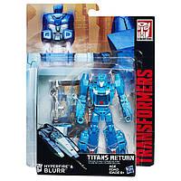 Трансформер Гиперфаер и Блюр Возвращение Титанов - Hyperfire, Blurr, Deluxe, Hasbro, 14 см - 143219
