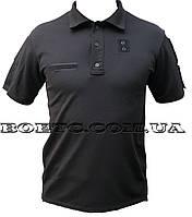 Тактическая Футболка-Поло (черная) CoolPass Полиция