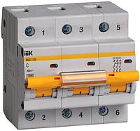 Автоматический выключатель ВА 47-100, 3Р 100А 10кА х-ка С, ИЭК