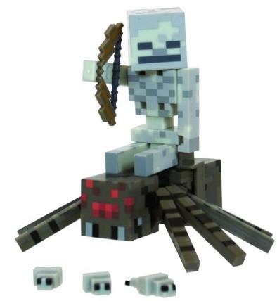 1006a7d5db635 Игровой набор фигурок Скелет-наездник и паук Майнкрафт серия 2 - Spider,  Jockey, Minecraft, Mojang, Series 2
