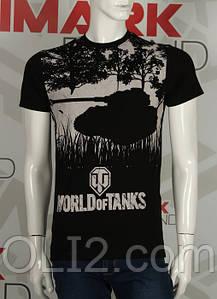 Футболка черные мужские WORLD of TANKS танки  Valimark-Biz