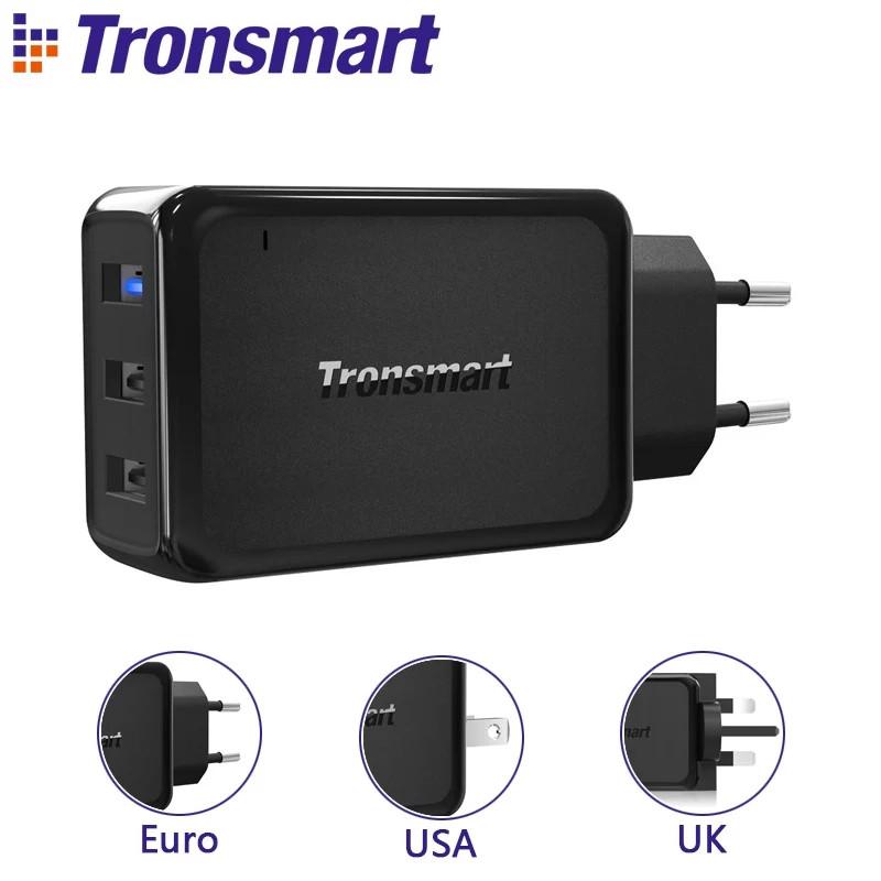 Зарядное устройство Tronsmart W3PTA 42W Quick Charge 3.0 USB Wall Charger 3-Port