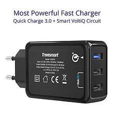 Зарядное устройство Tronsmart W3PTA 42W Quick Charge 3.0 USB Wall Charger 3-Port, фото 3