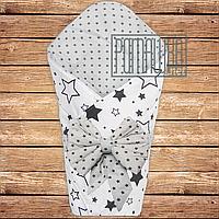 Летний конверт одеяло плед 80х80 на лето детский на выписку новорожденных из роддома тонкий 4704 Белый