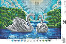 Схема для вишивання бісером Лебеді