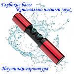 Беспроводные наушники блютуз гарнитура Bluetooth 4.2 Wi-pods S2 Оригинал водонепроницаемые Красный, фото 4