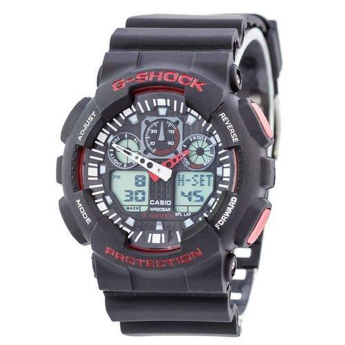 82ec334a Мужские наручные часы (копия) Casio G-Shock GA-100 Black-Red - Цена ...