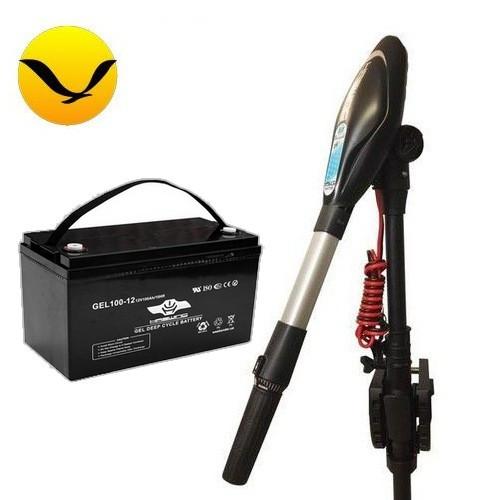 Электромотор для лодки Haswing Protruar G-4.0 +120a/h GEL аккумулятор Комплект; (Лодочный электромотор Хасвинг Протруар 4.0);