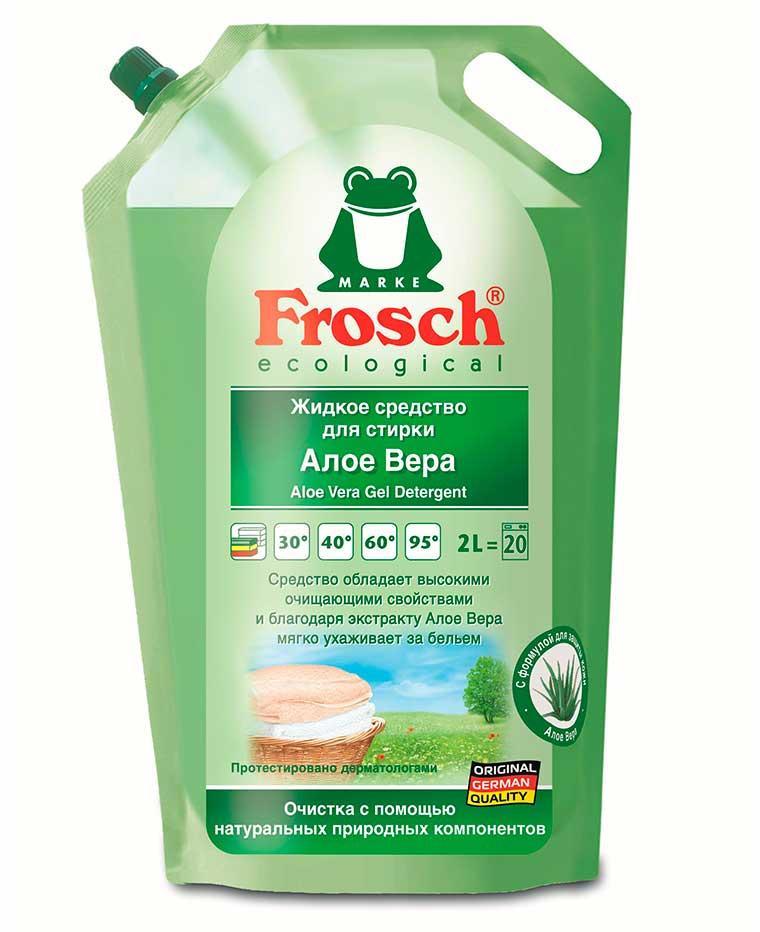 Жидкое средство для стирки Алое Вера 2л, Frosch Фрош