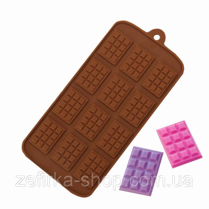 Силиконовая форма мини плитка шоколада