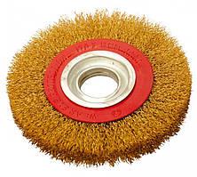 Щетка дисковая из латунированной рифленой проволоки D150*32 мм Htools 60K925